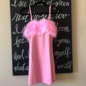 NWT Pink Dress w/ Fur Trim (Fembot Costume)